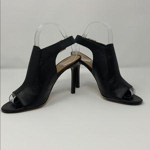 Charles by Charles David black leather peep toes
